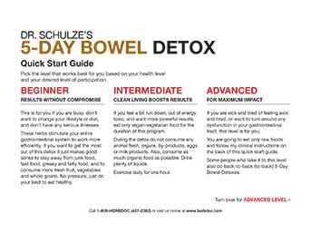 Dr. Schulze's 5-Day Bowel Detox Guide