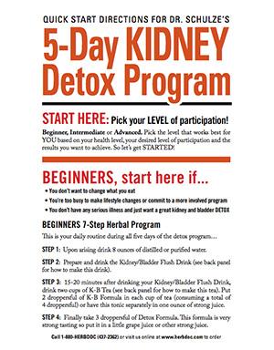 5-Day Kidney Detox Program Guide