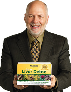 Dr. Schulze holding 5-day Liver Detox